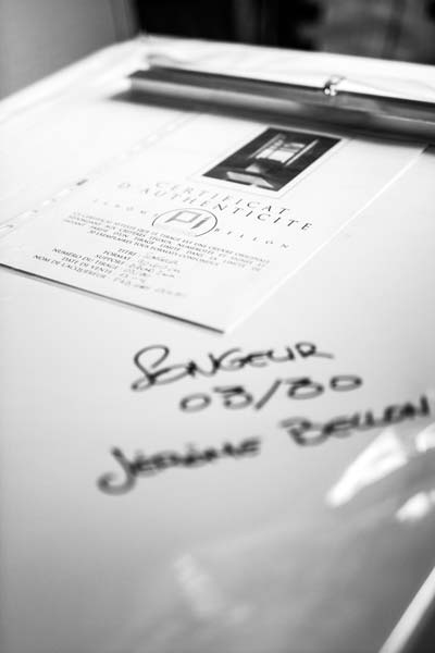 Photographe Bordeaux - Certicifat d'authenticité livré avec mes oeuvres d'art